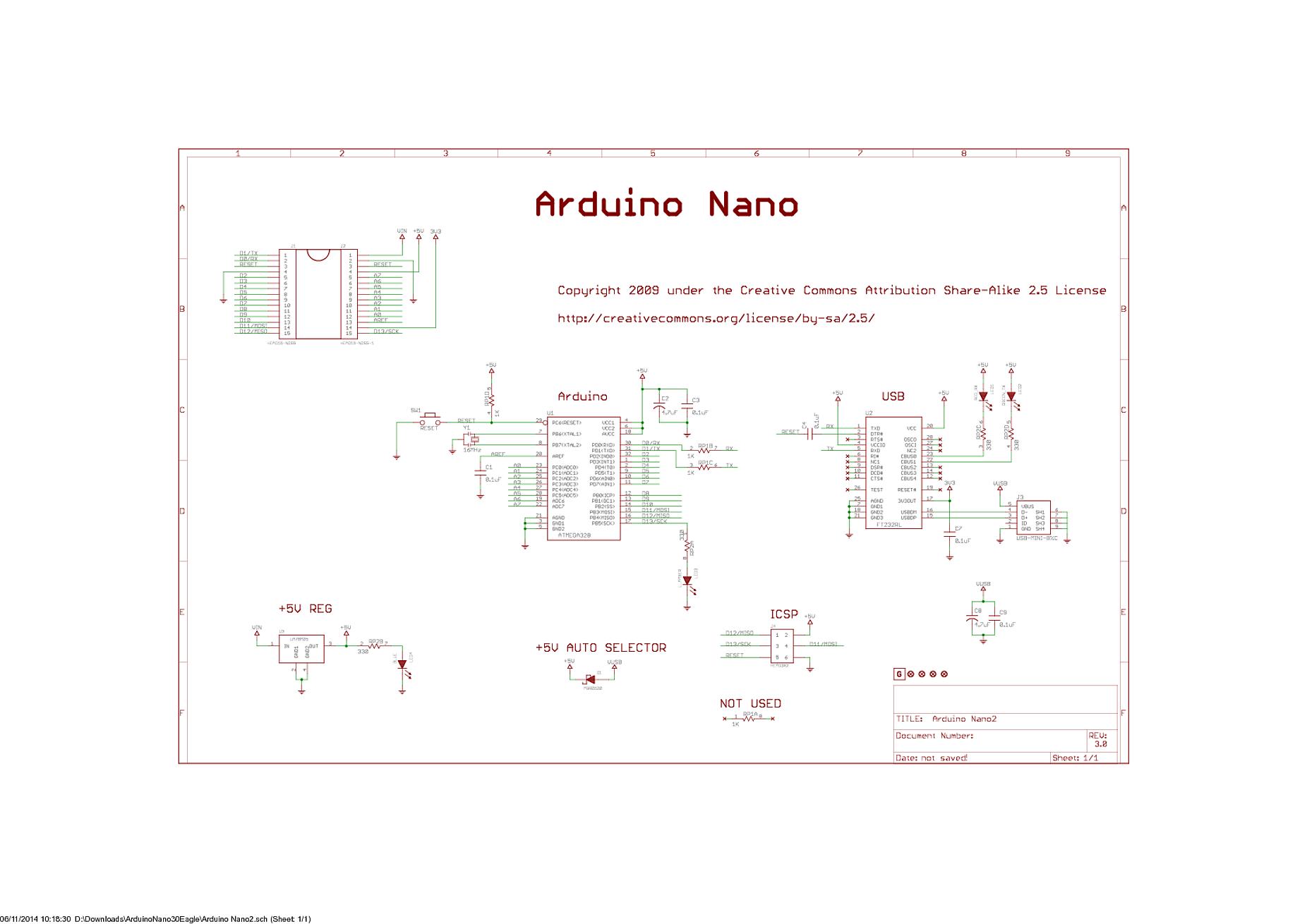 Arduino Nano Schematic