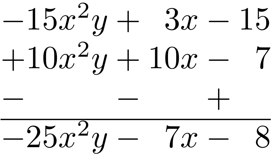 how to subtract two Equations and changes the symbol