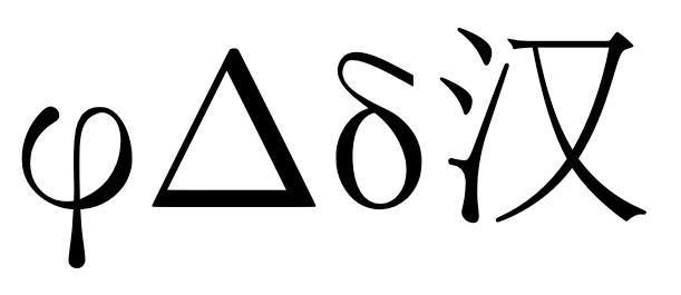 Error: Unicode char \u8:φ not set up for use with LaTeX