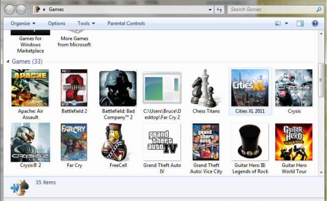 How To Remove Icons From The Games Folder In Windows 7