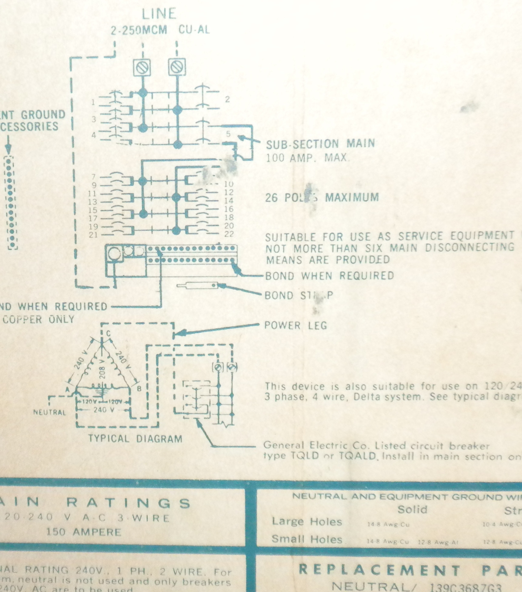 hight resolution of 6 pole ge disconnects wiring diagram