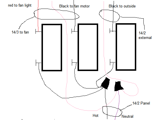 ceiling fan with light wiring diagram one switch diagrams for lights fans and poe cat5 electrical how can i separate a to power two wire the grounds if they exist enter image description here
