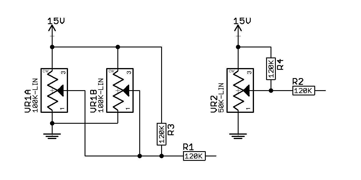 100k dual ganged stereo volume control wiring diagram browning a bolt parts potentiometer wired in parallel electrical engineering stack