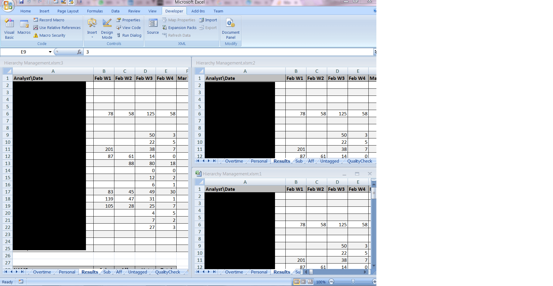 Managing Several Windows Of The Same Workbook Using Vba On Excel