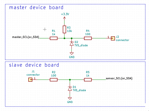 small resolution of evaluating esd protection for 3 3v i2c