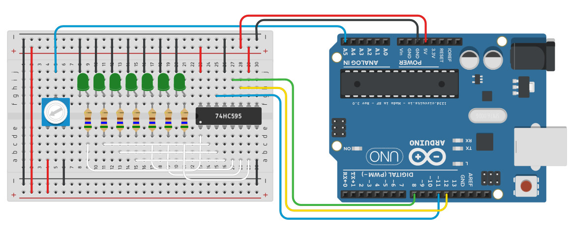 arduino uno  Formula for current through shift register