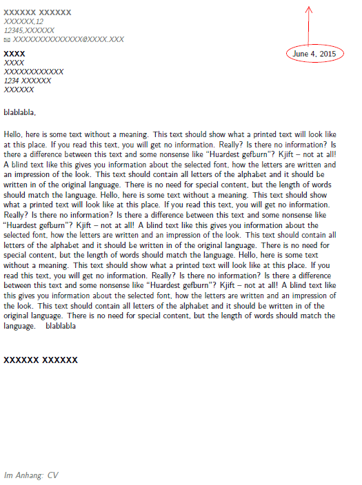 Cover Letter Classic Resume Example