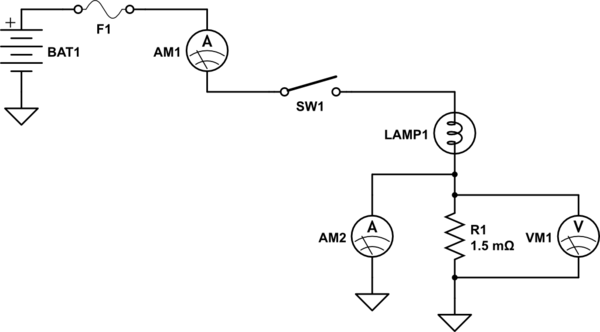 Ammeter Shunt Wiring Diagram For A. Schematic Diagram