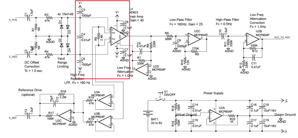 medium resolution of instrumentation amplifier connection problem