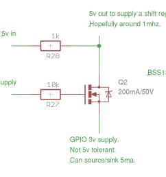 3 3v to 5v conversion with non 5v tolerant part single npn transistor  [ 1125 x 843 Pixel ]