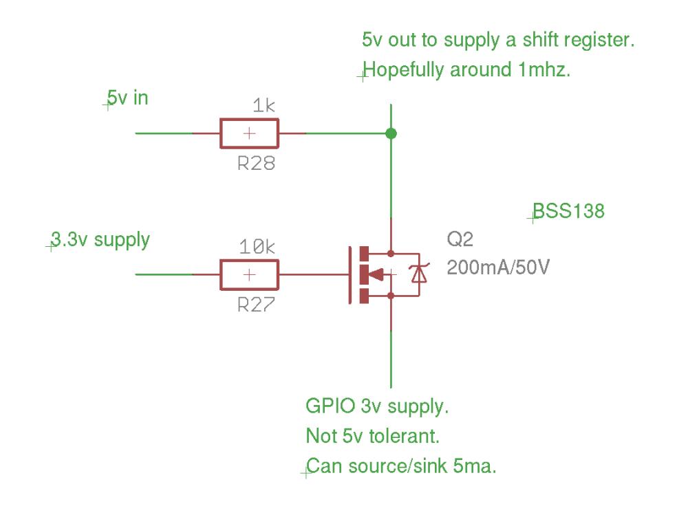 medium resolution of 3 3v to 5v conversion with non 5v tolerant part single npn transistor