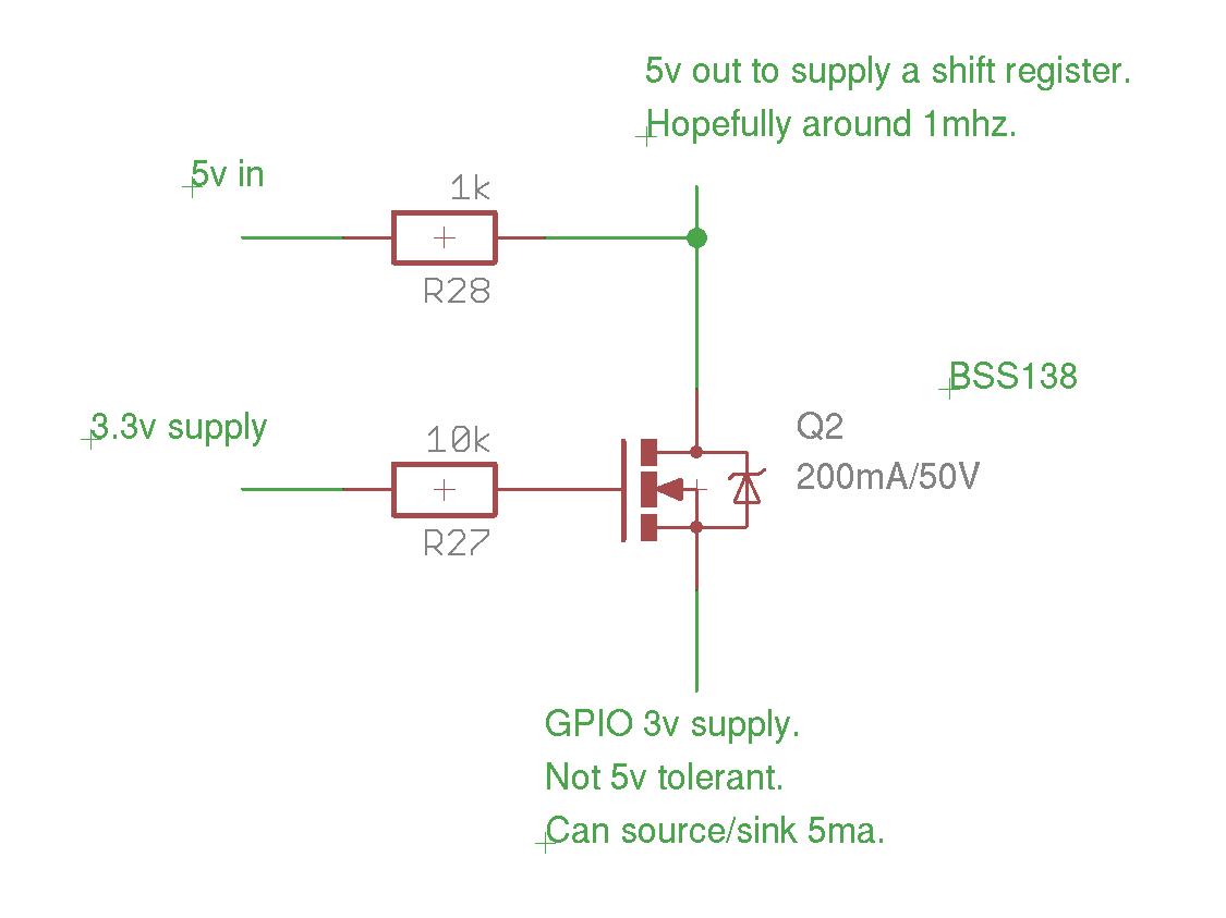 hight resolution of 3 3v to 5v conversion with non 5v tolerant part single npn transistor