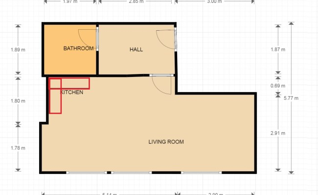 Plumbing Moving Kitchen Opposite Bathroom Home
