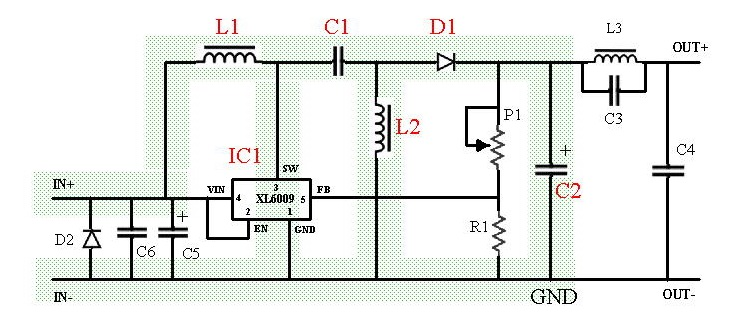 Why is there a rectifier diode connected to ground