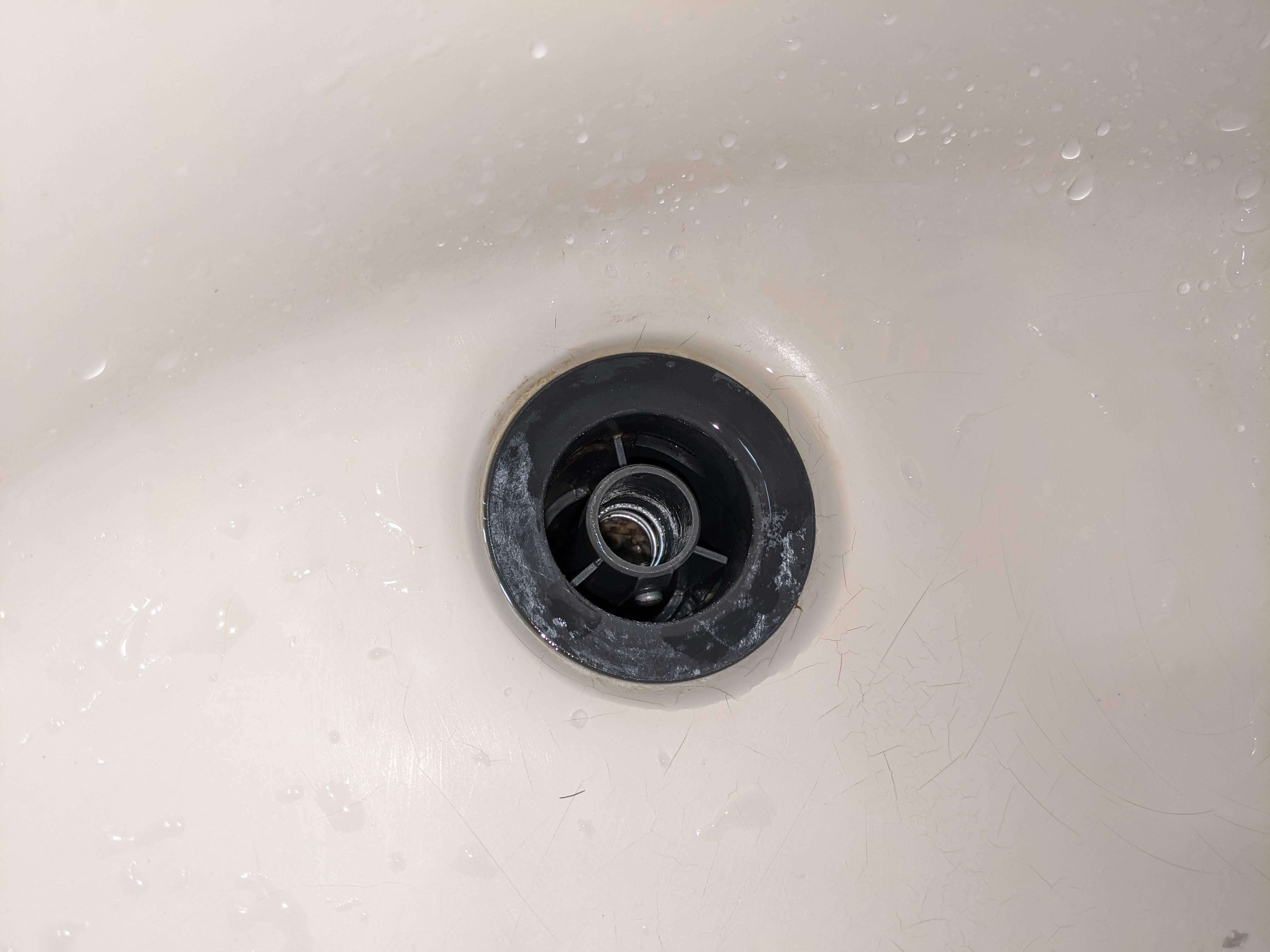 install kohler bath sink popup stopper
