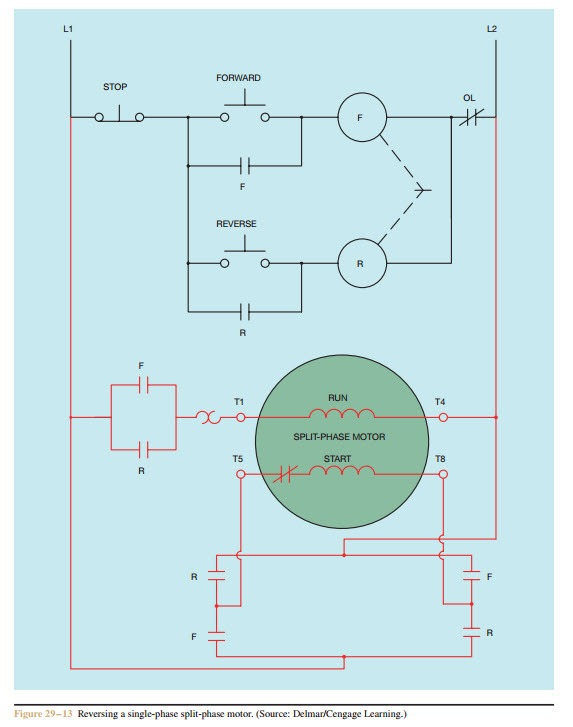 How To Reverse A Single Phase Motor : reverse, single, phase, motor, Single, Phase, Motor, Control, Using, Relay, Electrical, Engineering, Stack, Exchange