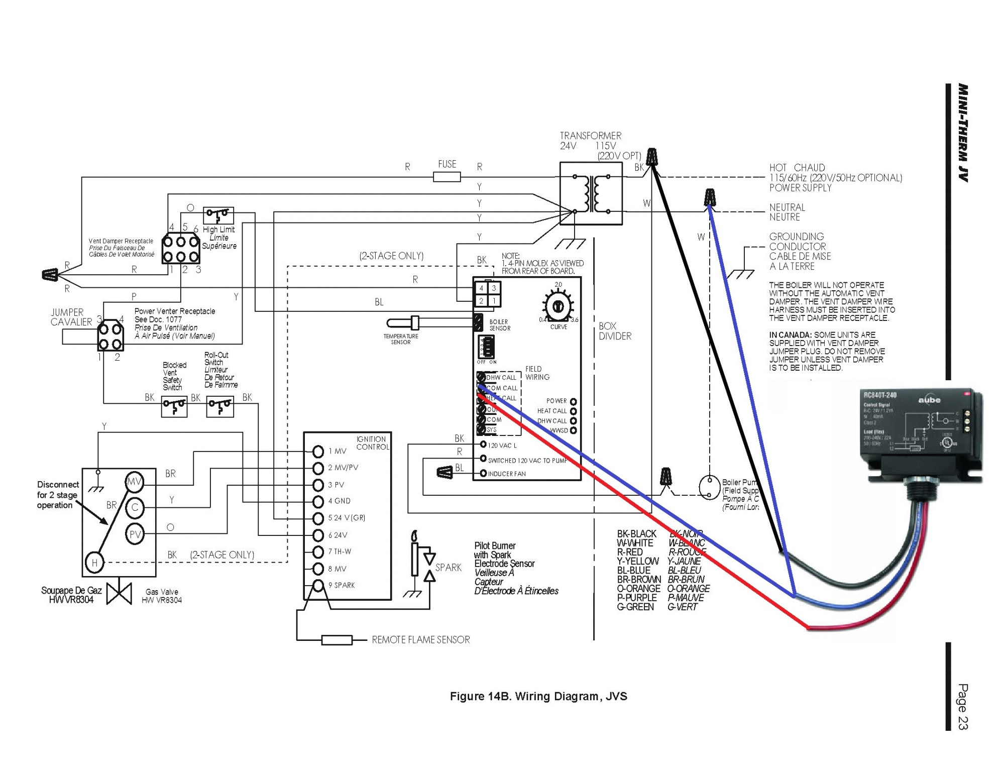 hight resolution of thermostat how to add c wire from laars mini term home laars boiler wiring diagrams
