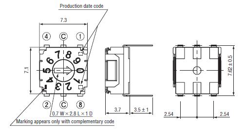 circuit diagram of dip switches example