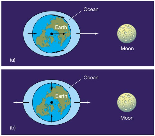 small resolution of the moon different perspective of tidal force on earth s ocean how tidal power works tidal force diagram