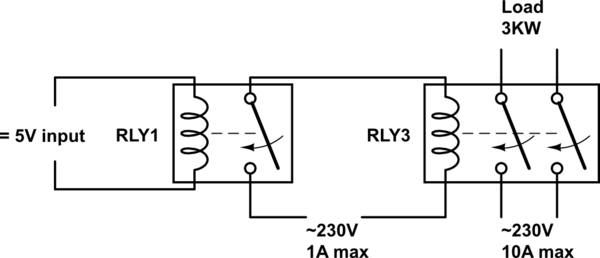 pla relay circuit diagram