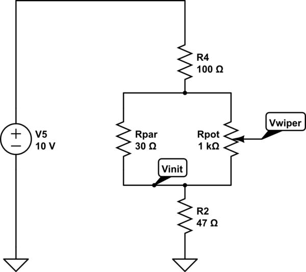 Parallel Resistor Potentiometer