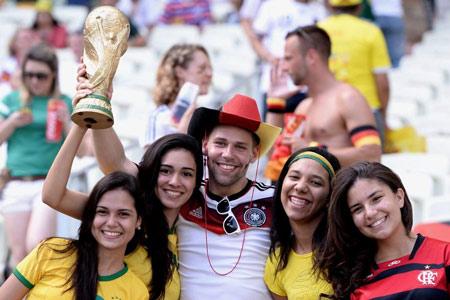Why do German football (soccer) fans wear cowboy hats