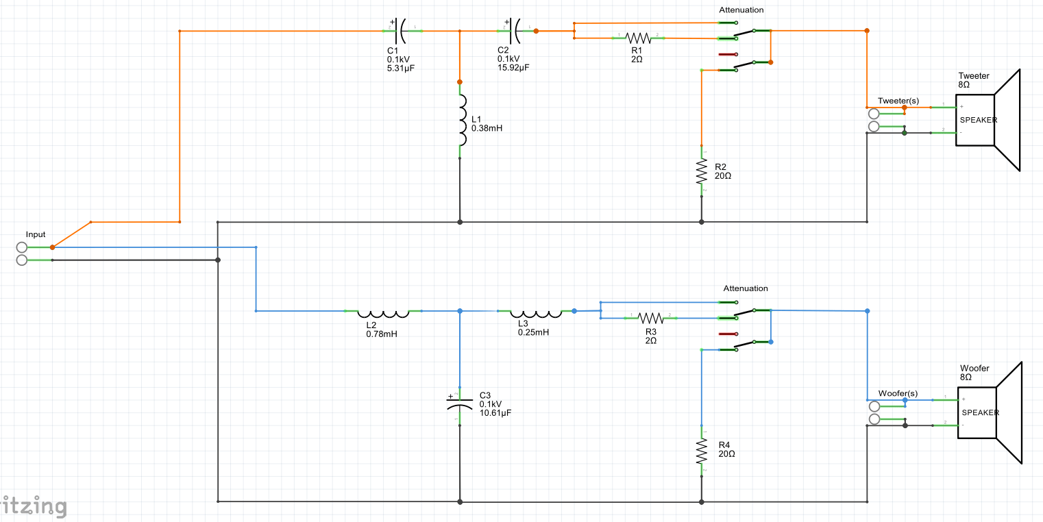 hight resolution of crossover circuit