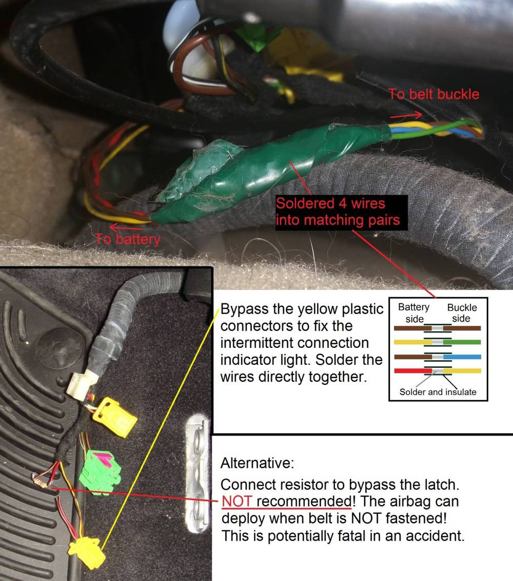 medium resolution of wiring vw mk4 golf gti airbag indicator warning light motor rh mechanics stackexchange com air bag harness repair 2005 gmc airbag wiring diagram