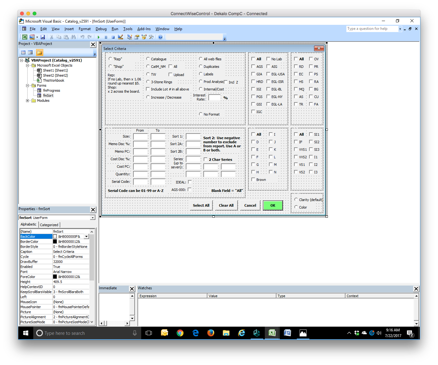 Vba Excel Form Content Is Missing