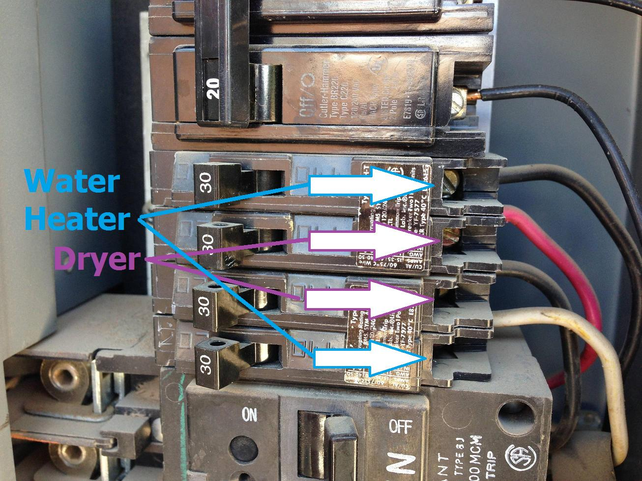 hight resolution of electrical using a 30 amp tandem circuit breaker for a 120 240v house fuse box wiring home fuse box heater
