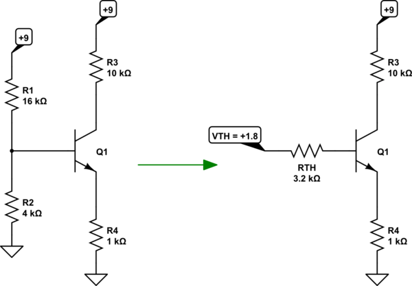 Solving a BJT circuit for transistor voltages/currents
