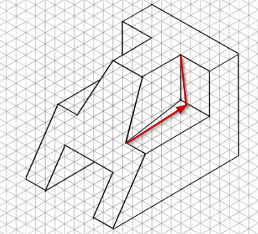 Drawing isometric from two orthographic views