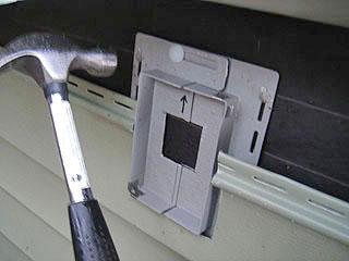 exterior light in existing vinyl siding