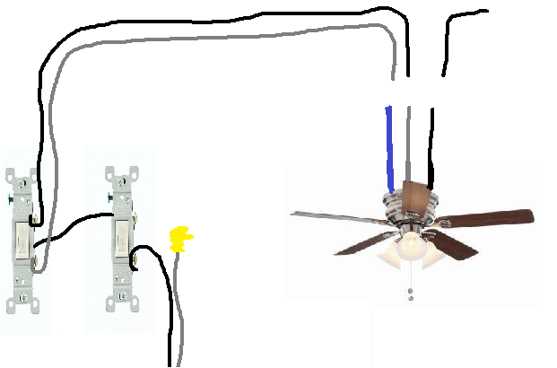 wiring a ceiling fan with old