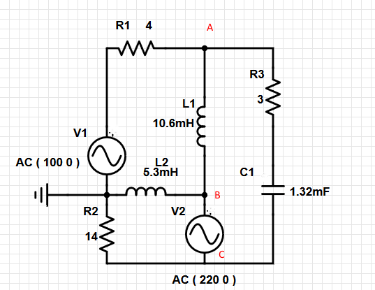 Nodal analysis on AC RCL Circuit (I'm confused