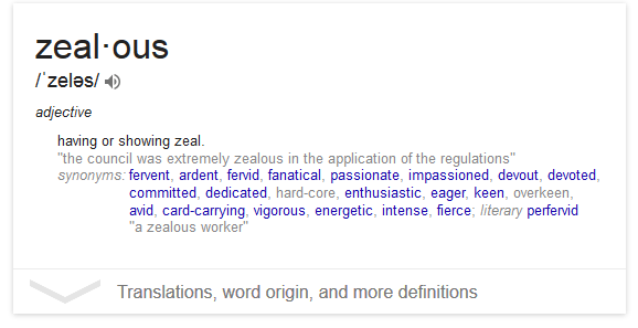 text formatting  What does the grey color in some synonyms in Google define mean  Web