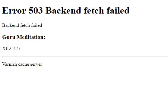 magento2  Error 503 Backend fetch failed  Magento Stack Exchange