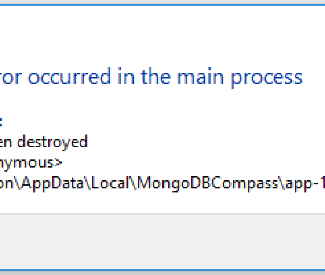 A Javascript Error Occured In The Main Process Compass