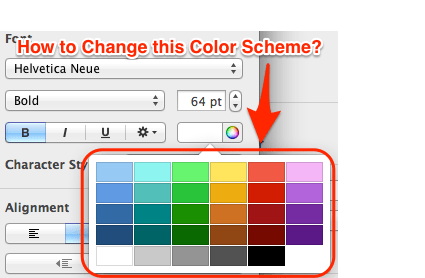 color combinations for diagram 95 civic fuse box macos how to change the scheme in keynote 6 ask different can i this