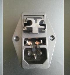 ac why is this switched power inlet fused on both load and neutral 125vac power inlet receptacle wiring inlet ac [ 1803 x 754 Pixel ]