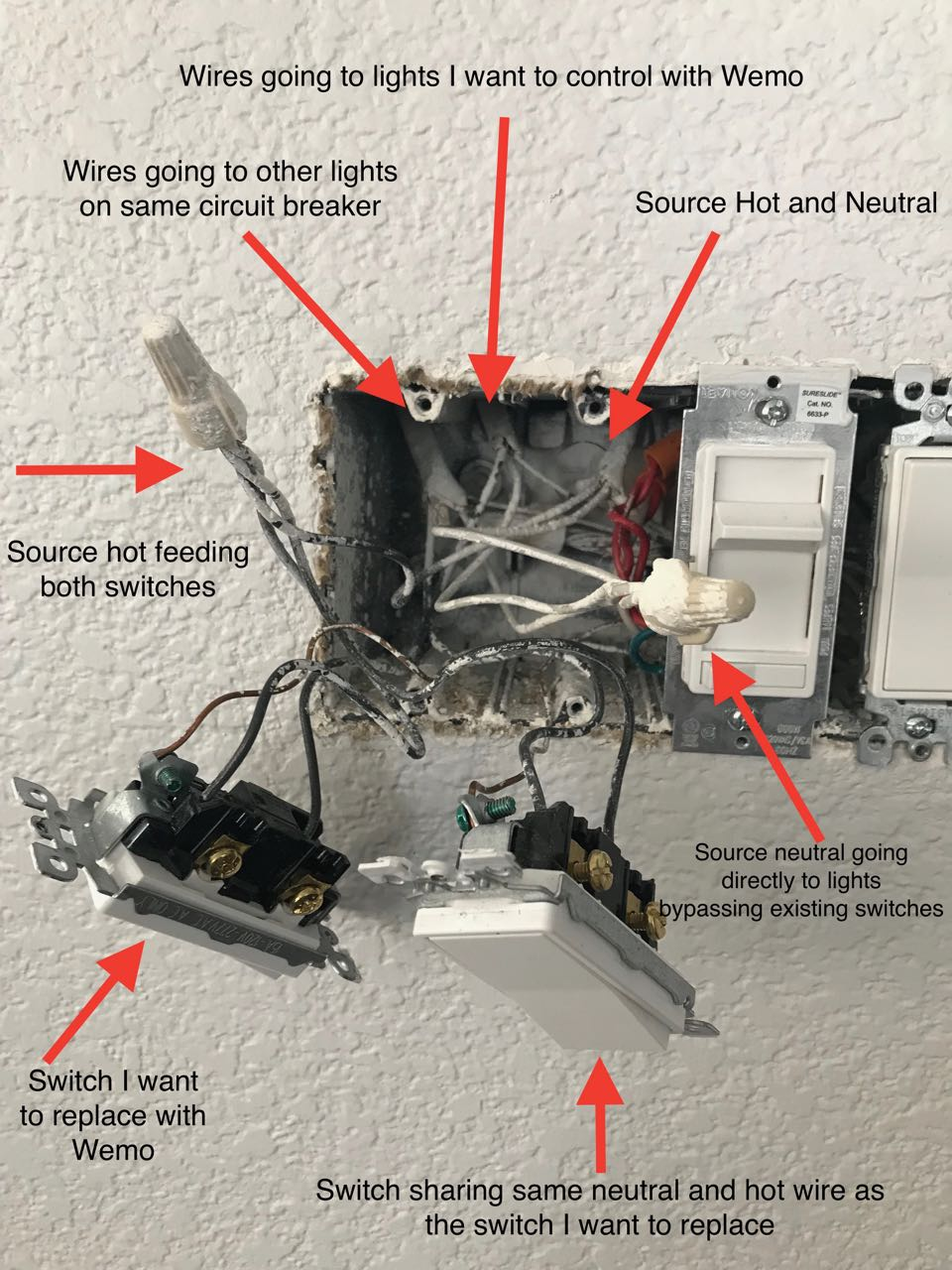 medium resolution of can i connect a shared neutral to my wemo smart light switch