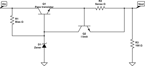schematic diagram of the circuit would look like this