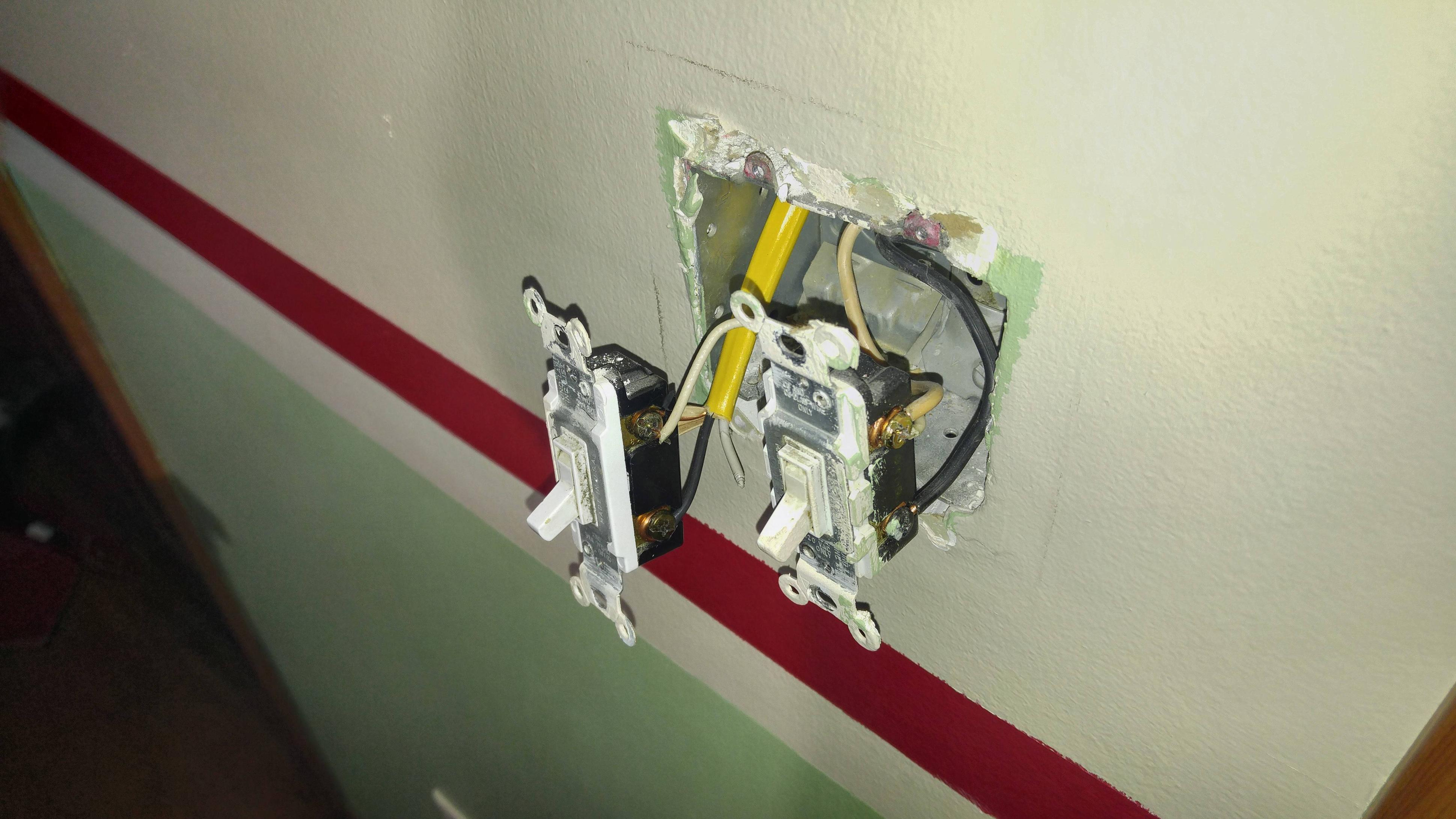 Cable Going To The Light Fixture To The Other Terminal Of The Switch