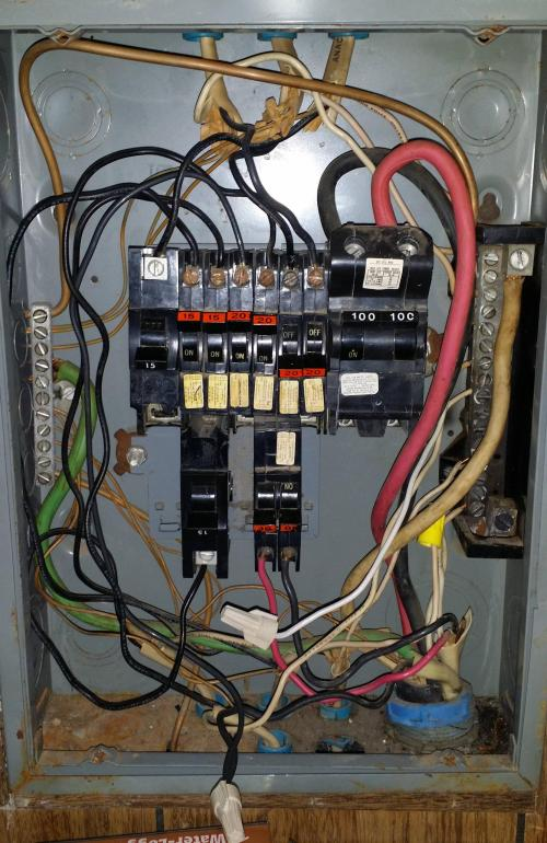 small resolution of electrical panel neutral bar is burnt home improvement stackinside the panel