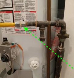 split gas line to gas water heater for gas dryer [ 2000 x 1500 Pixel ]