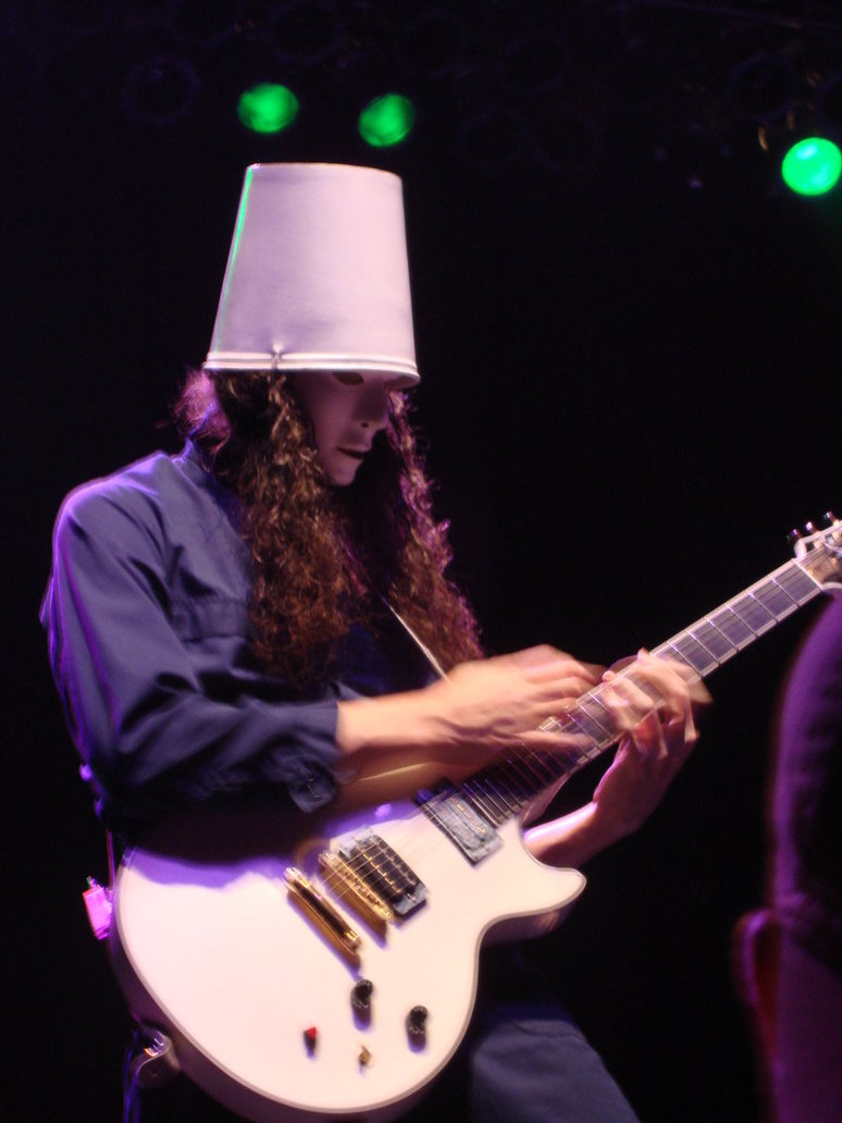 Appearance Is Buckethead S Trademark Bucket Hat An