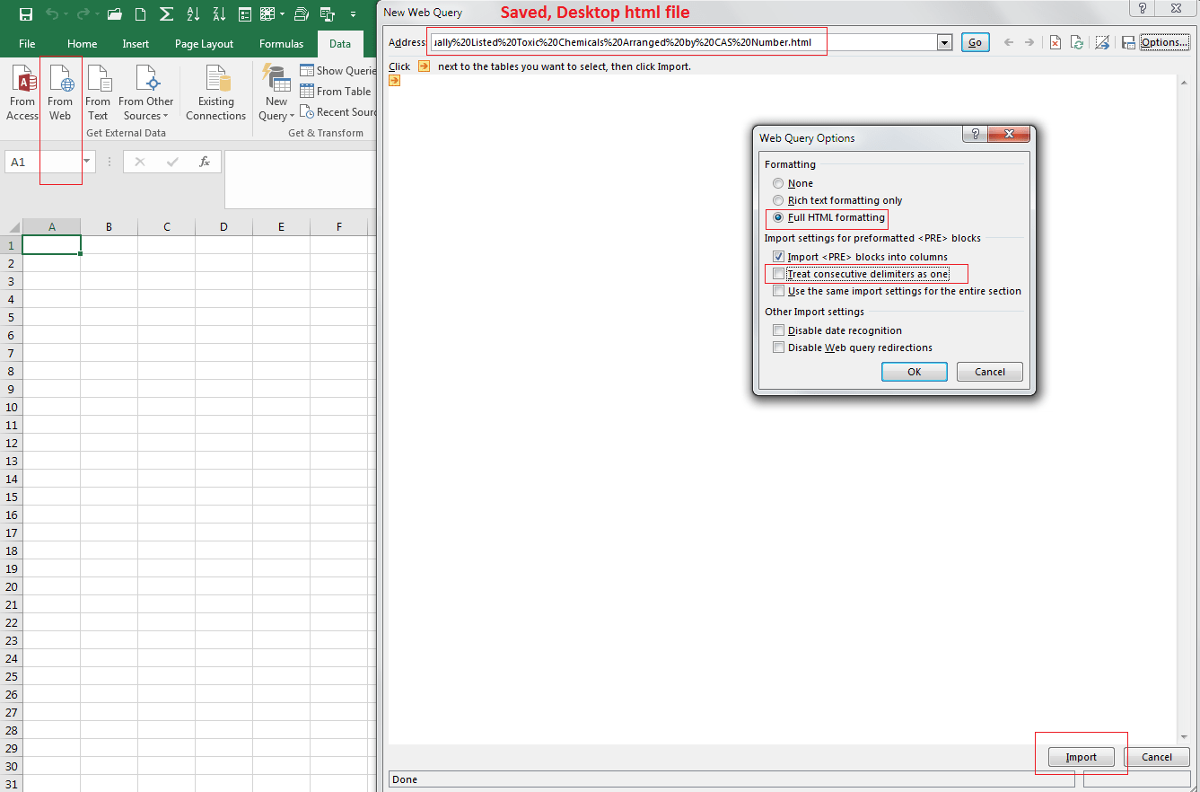 The File Could Not Be Accessed Try One Of The Following When Importing Table In An Excel Web