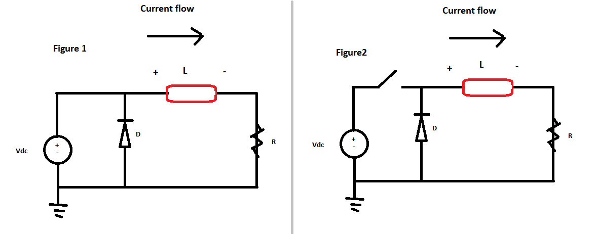 A basic question about inductor current in a switching