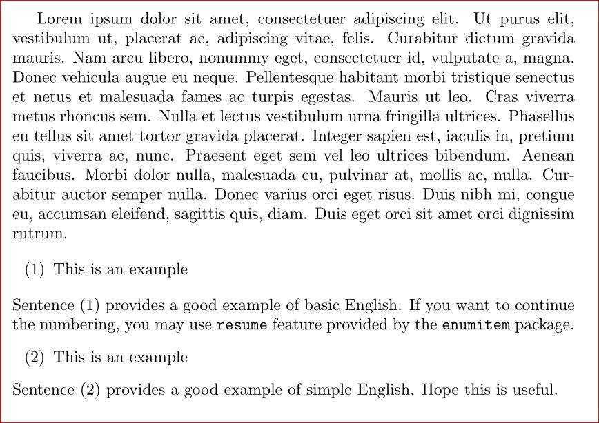 Cross Referencing Numbered Examples In Linguistics That I Can