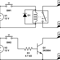24v Relay Wiring Diagram 5 Pin How To Draw A Stem And Leaf Schematic Great Installation Of Power On Gopro 5v With 10 Using Transistor Or Rh Electronics Stackexchange Com Relays A1 A2 24 Volt